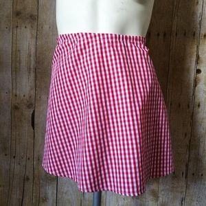 WAYF Gingham Printed Skirt Size Large